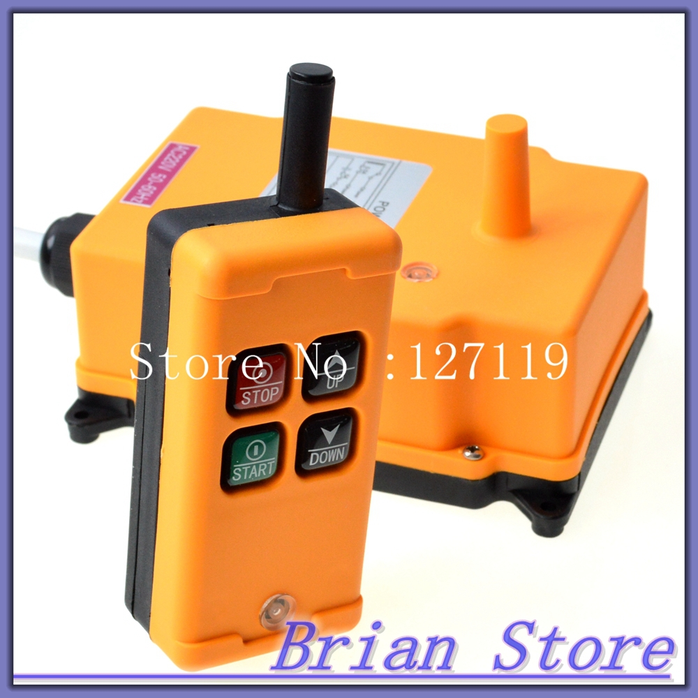 Image 4 - 1 Transmitter 4 Channels 1 Speed Control Hoist industrial wireless  Crane Radio Remote Control System OBOHOS-in Switches from Lights & Lighting