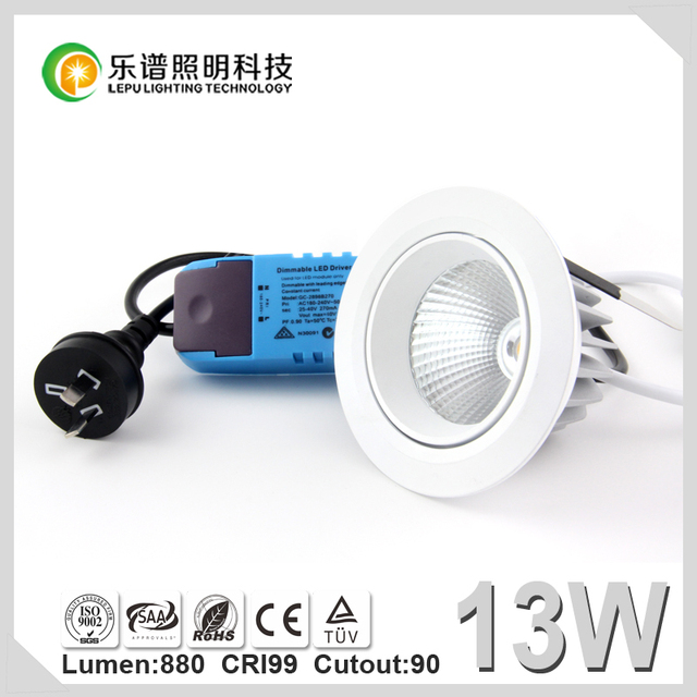 Free shiping Newest design high CRI 99ra color temperature changed 2000k to 3000k led cob downlight