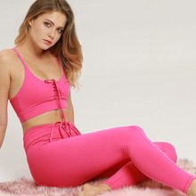 Women Sport Suit Gym Yoga Sets 2 PCS Sportswear Athlete Tops+Pants Fitness Workout Running Set Wear Tights