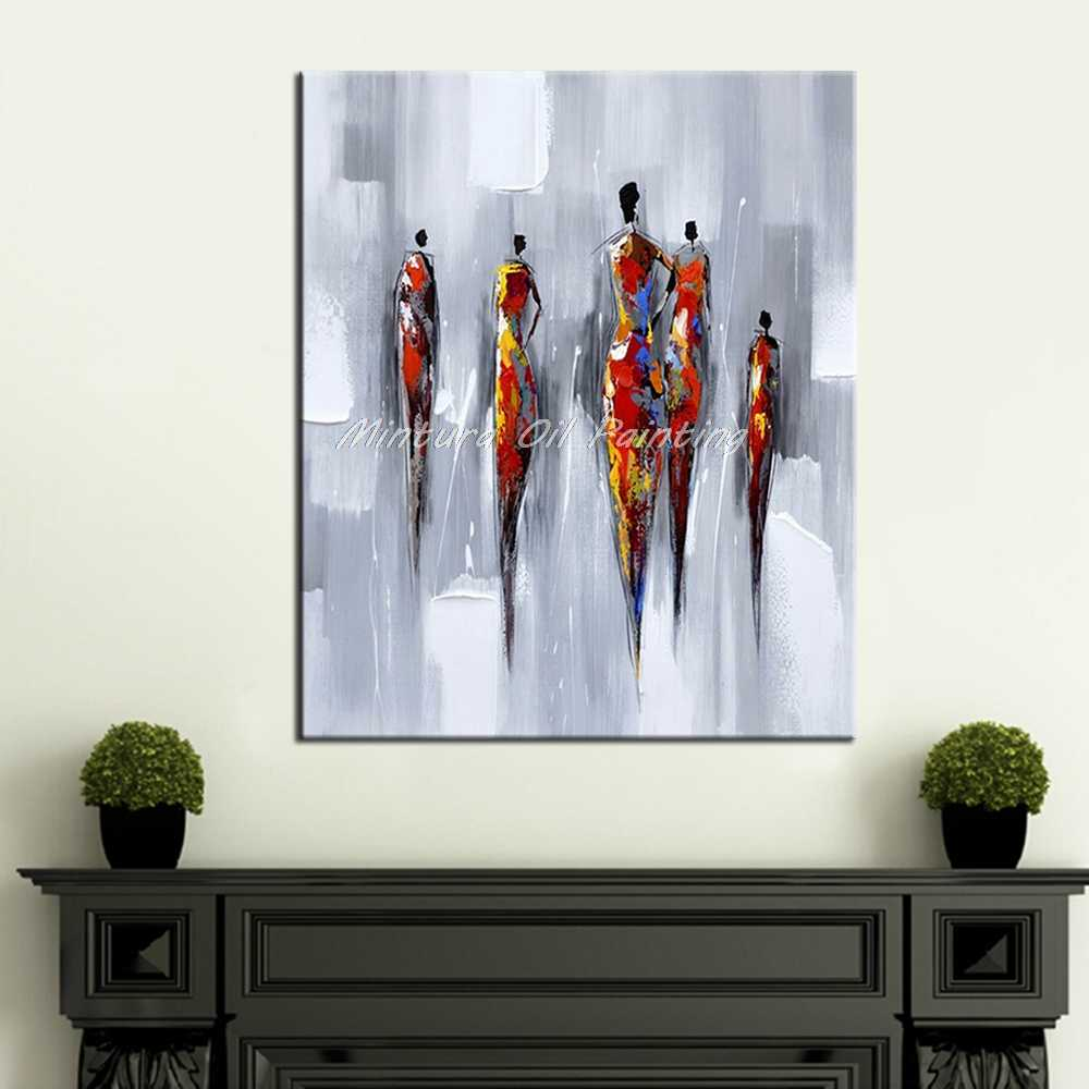 Mintura Art Wall Decoration Oil Painting On Canvas Modern Abstract Picture Pop Art Hand Painted Figure Oil Paintings No Framed