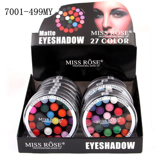 US $4 96 |Miss Rose Makeup Brand 27 Color Eyeshadow Palette Matte Eye  Shadow Cake Professional Make Up Kit-in Eye Shadow from Beauty & Health on