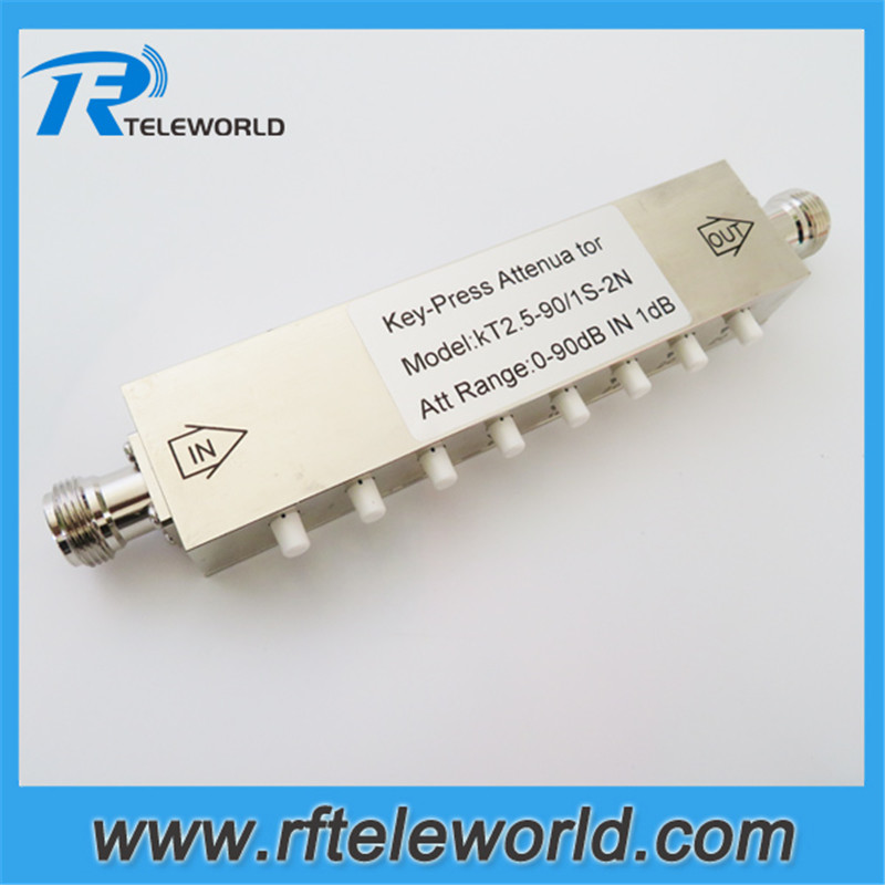 RF Coaxial Adjustable Step 1db Attenuator SMA connector DC-2.5GHz 5 Watts 0~90dB