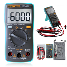 Auto Digital Multimeter 6000Counts Backlight AC/DC Transform Ohm Ammeter Frequency Capacitance Temperature Tester Meter #LO