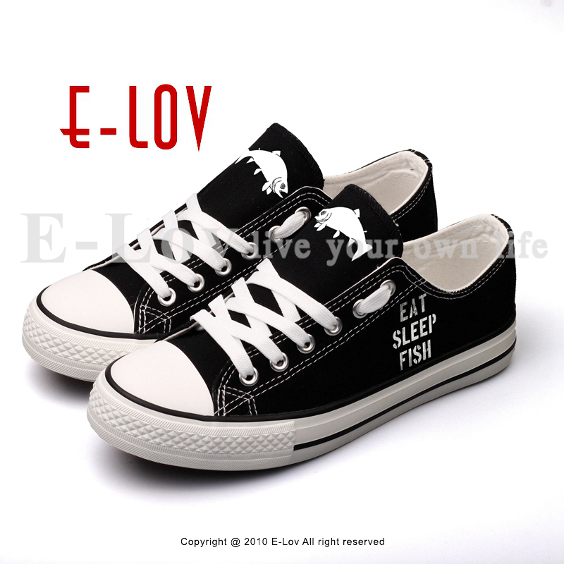 E-LOV Design Graffiti Sharks Printed Women Girls Casual Flat Shoes Print Humorous Words Black Canvas Shoes For Couples game of thrones casual shoes women house stark winter is coming printed summer style superstar graffiti canvas shoes big size