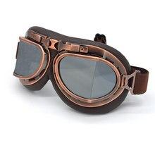e9df957232 Retro moto gafas Vintage piloto, gafas de aviador, la Segunda Guerra Mundial  Steampunk gafas de Harley casco en carretera gafas .