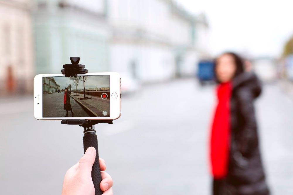 bilder für Wewow sport x1 selfie stick tragbare smartphone gopro 1 achse gimbal stabilizer action kamera eine achse steadicam montieren f19361