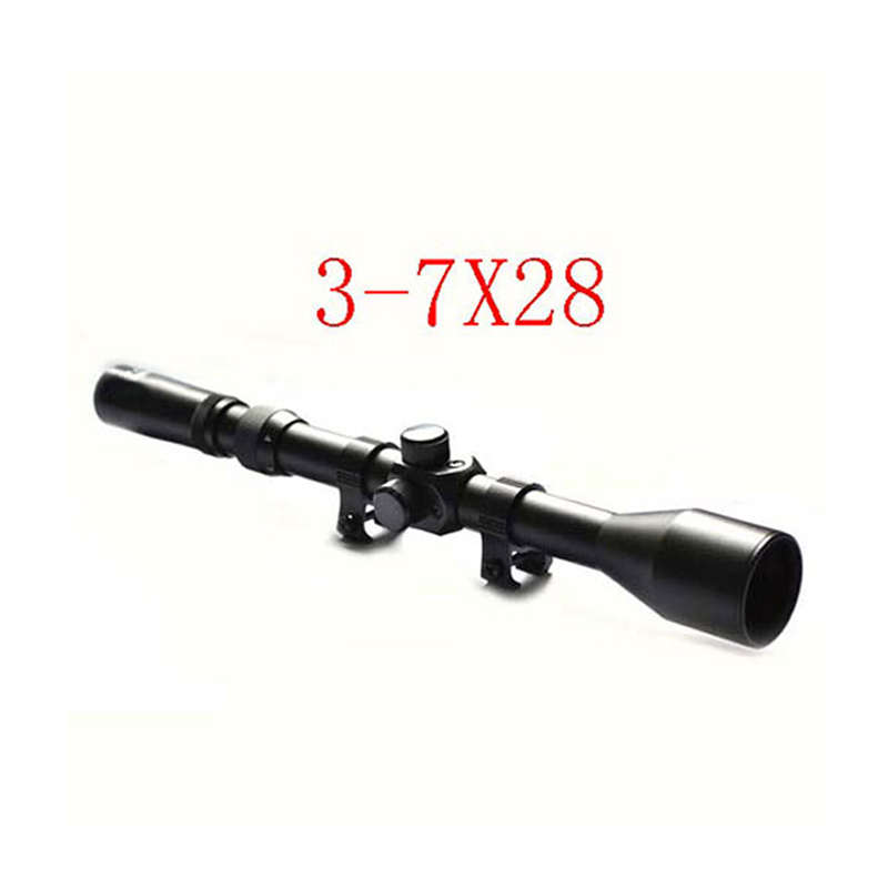 3-7X28 Optical Sight Scope  Telescope With Free Mounts & Lens Caps Riflescope Hunting  Airsoft Shooting 6-0022