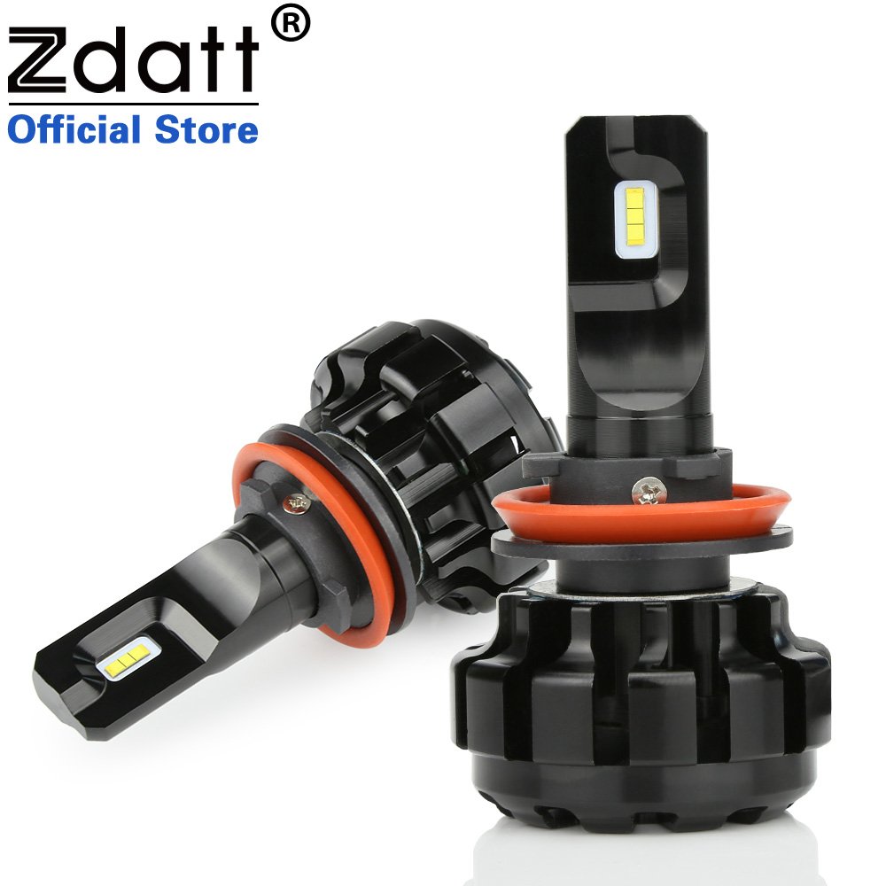 Zdatt 2 Pcs Super Luminoso Ha Condotto La Lampada H11 H8 H9 ZES Canbus Fari 100 W 12000Lm Auto Ha Condotto La Luce 12 V Auto Automobili Lampada 6000 K