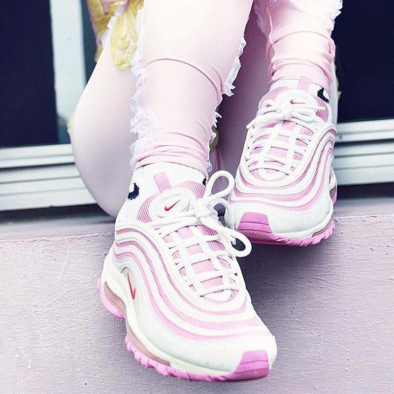 4fd1d208f566e Original Nike AIR MAX 97 OG Woman GS Cherry Powder Bullet Full Palm Cushion  Running Shoes Sport Shoes Nike Shoes for Women-in Running Shoes from Sports  ...