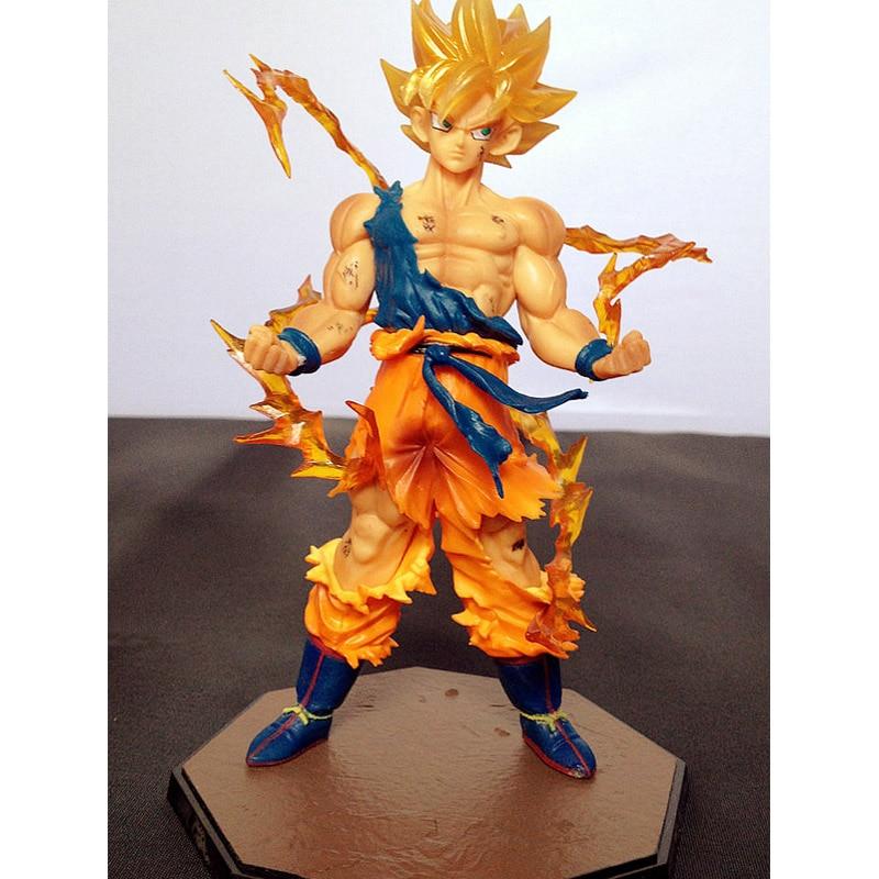 1 Pcs 18 CM Genuine Japanese Anime Dragon Ball Z Super Saiyan Son Goku Vegeta PVC Action Figure Collectible Toy For Boys