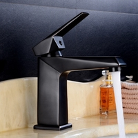 DONYUMMYJO 1pc Black Ancient Faucet Copper Hot and Cold Wash Basin Hotel Bathroom Deck Installation Tap