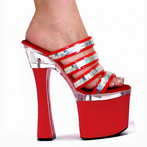 945cdace9ce8 Platform women s shoes Sandals Thick Super Pumps peep toe High Heels Shoes  Pole Dance Shoes Steel shoes-in Women s Pumps from Shoes on Aliexpress.com  ...
