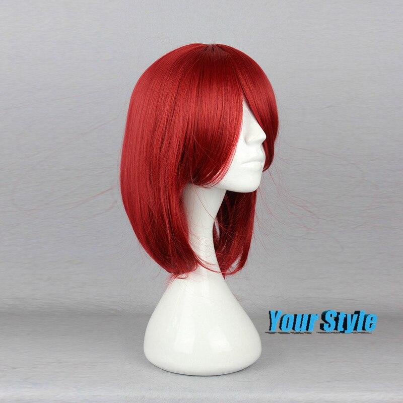 45cm Cute Hairstyles Medium Length Hair Synthetic Bob Haircuts Wigs
