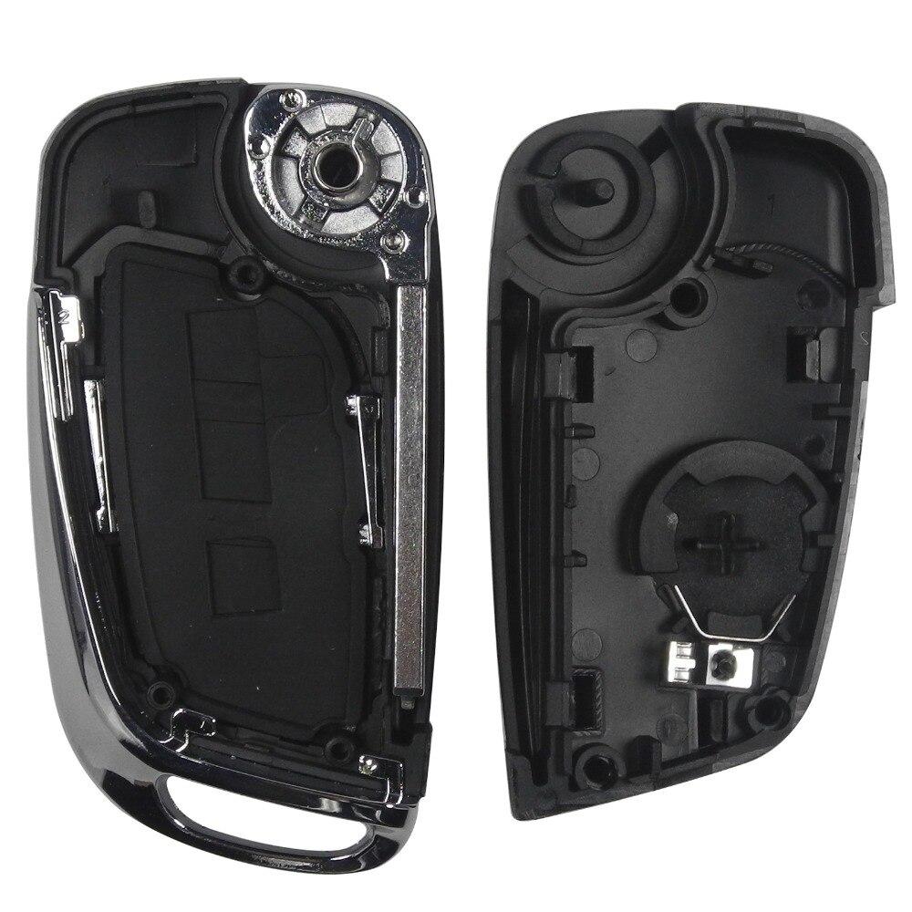 Jingyuqin CE0536 Geändert Flip Remote Key Shell 2//3 BTN Für Peugeot 307 408 308 für Citroen C-Triomphe C -Quatre C3 C4L C5