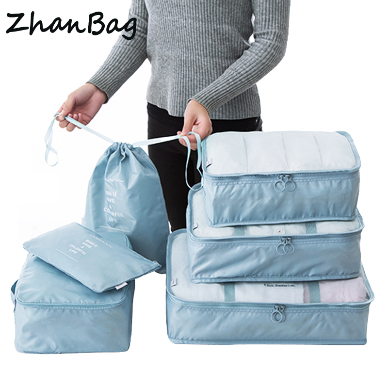 6PCS/Set Polyester Packing Cube Luggage Clothes Packing Organizer Travel Bag For Men Women Large Capacity Durable Waterproof 141 все цены