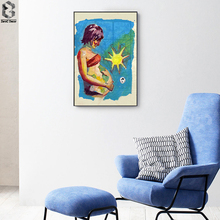 Mothers Day Unique Gift Poster Vintage Canvas Painting Wall Art Living Room Print Picture Home Decoration