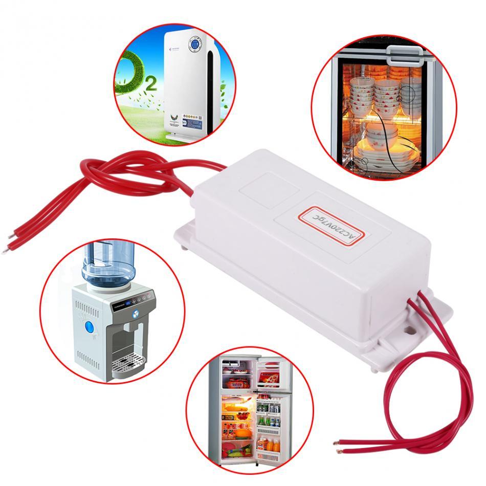 AC220V 7G Ozone Generator Water Sterilizer Air Purifier Ozonizer Machines with Ceramic Plates For Oxygen Bar Refrigerator