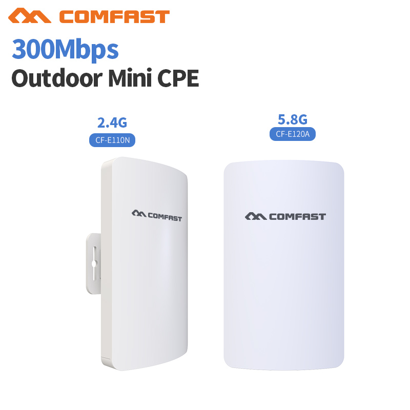 Comfast Outdoor 2.4G &5.8G Mini Wireless Extender Repeater AP 300M Outdoor CPE Router Wifi Bridge Access Point AP IP Cam project беспроводной маршрутизатор phicomm fir303c 300m ap