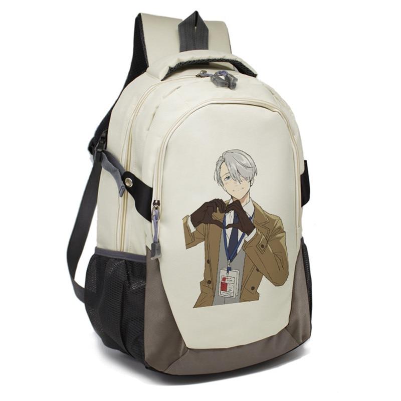 Yuri On Ice Backpack Cartoon Japan Anime Victor Nikiforov Yuri Plisetsky Cosplay Shoulder Bag Rucksack Mochila Escolar костюмы аксарт комплект мэтью