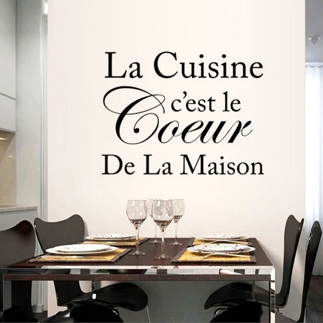 French Cuisine Proverb Vinyl Wall Stickers Restaurant Kitchen