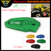 Laser Logo Z900 Green Motorcycle CNC Front Brake Reservoir Cover Cap For Kawasaki Z900 Z 900