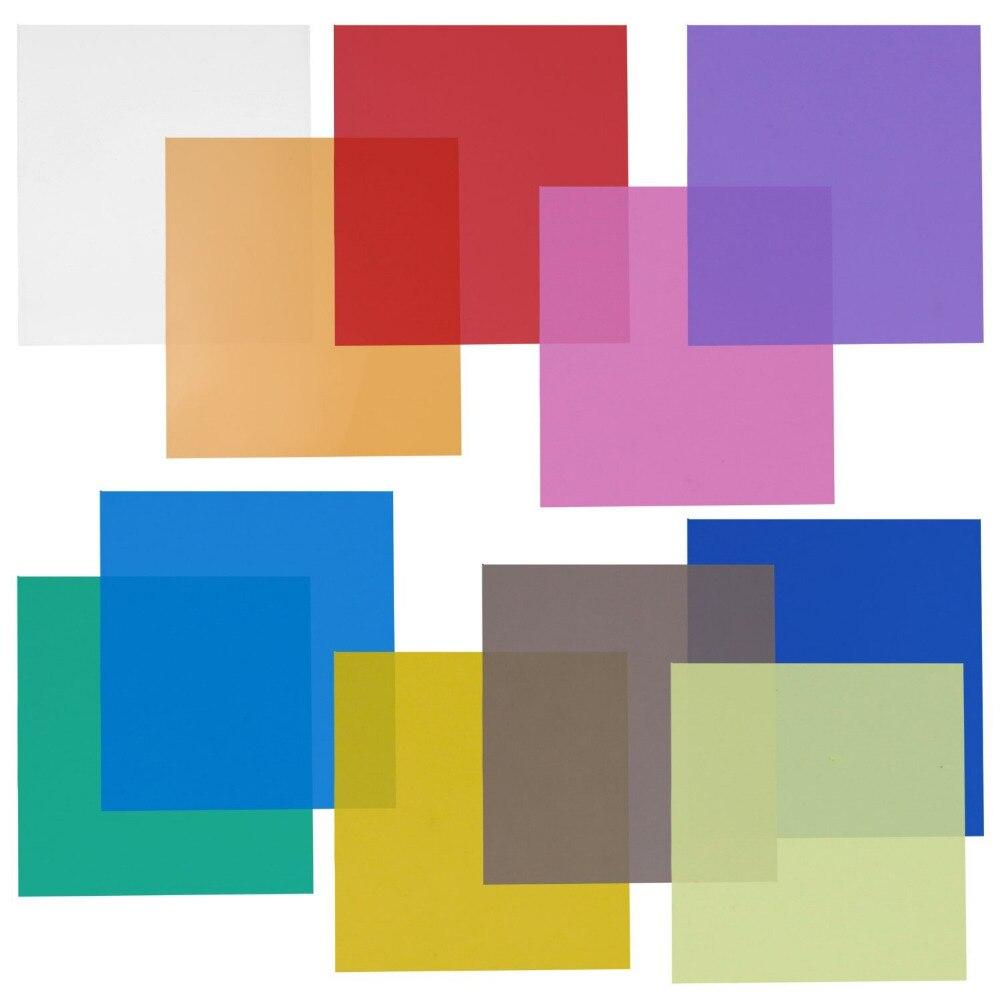 Neewer 12x12 11 Sheets Set Pack of Transparent Color Gel Filter for Yongnuo/Godox/Neewer Photo Studio Strobe Flashlight вставка aparici dress mesmer inserto 12x12