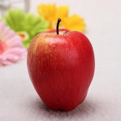 Réaliste Décoratif En Plastique Grande Pomme Artificielle Mousse on