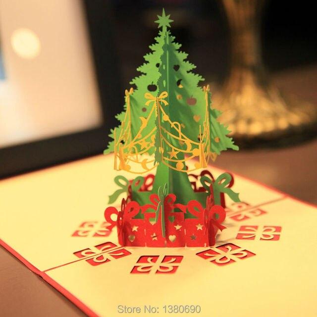 Christmas 3d Cards Handmade Pop Up Greeting Card Happy Birthday