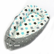 Hot Sale Pure Cotton Baby Nest Bed Cradle Cot Travel Crib Bed For Newborns Portable Baby Crib Washable Bed for 0-2 Years Old natural straw hand knitting baby portable bed crib breathable outdoor travel cars baby cradle bed protector for kids