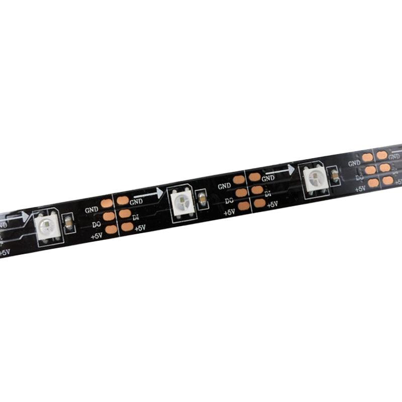 5mX Yüksək keyfiyyətli WS2812B rəqəmsal ünvanlı 5050 RGB LED - LED işıqlandırma - Fotoqrafiya 1