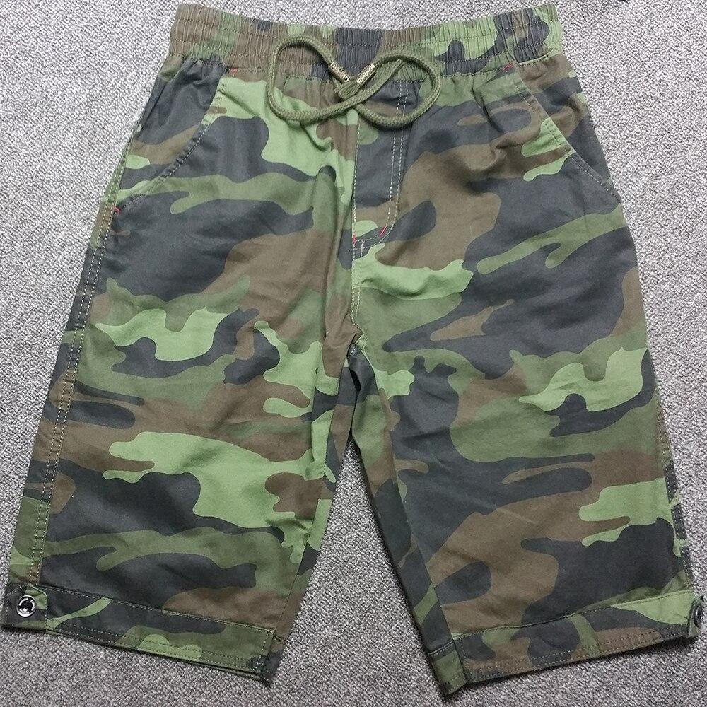 2018 Summer Big Size Elastic Drawstring Camouflage Shorts Men Camo Bermuda Plus Size 4XL 5XL Navy Blue Army Green
