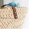 Summer Shoulder Bag Flowers Straw Package Women Beach Package Bag Woven Straw Rattan Bag with Rhinestones Pearl
