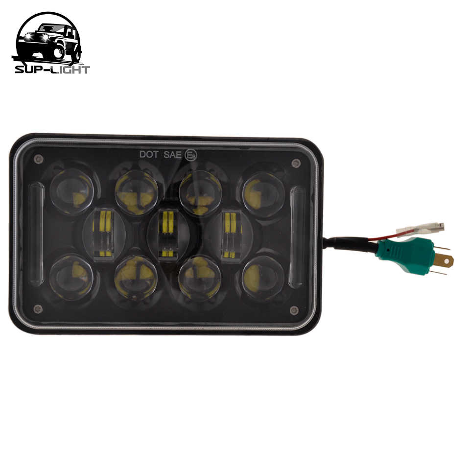 small resolution of  4 pcs square 4x6 inch led headlights replacement for gmc ford chevrolet trucks 4 x 6