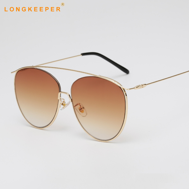 3329fcf532 Brand Design Cat Eye Sunglasses Vintage Pilot Ladies Cat eyes Metal Frame  Women Sunglass uv400 google eyeglasses oculos feminino
