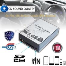 Reproductor de música MP3 del coche AUX USB SD Adaptadores de cambio de máquina de CD para Fiat Alfa Romeo Lancia Interfaz 8PIN, coche kit styling
