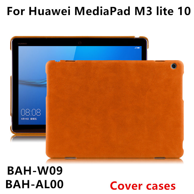Case For Huawei MediaPad M3 lite 10 Covers Protective Shell Leather M3 Youth Edition BAH-W09 AL00 L09 Tablet cases PU Protector case cowhide for huawei mediapad m3 lite 10 covers protective leather m3 youth edition bah w09 al00 tablet cases genuine sleeve