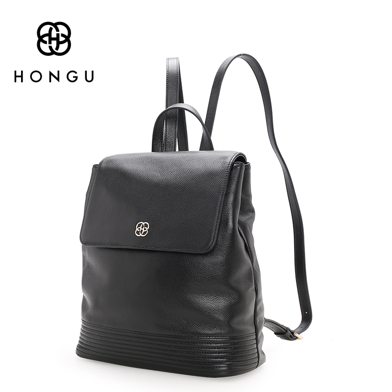 HONGU Fashion Women Backpacks 100% Genuine Cow Leather Bag Ladies Tote Red School Bag Teenagers Girls Big Capacity Versatile Bag qiaobao 100% genuine leather handbags new network of red explosion ladle ladies bag fashion trend ladies bag