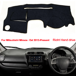 Image 2 - רכב לוח מחוונים כיסוי למיצובישי מיראז /מיראז G4 2012 2013 2014 2015 2016 2017 2018 2019 Presen LHD של RHD אוטומטי שמש צל