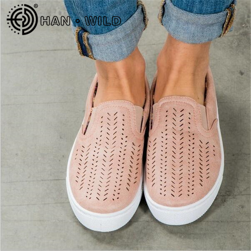 Solid Color Large Size 35-43 Flats For Women Hollow Out Round Canvas Shoes Summer Loafers Slip on Flat With Casual Shoes xiaying smile hollow out flats shoes women boat shoes summer casual loafers slip on pointed toe shallow rubber women solid shoes