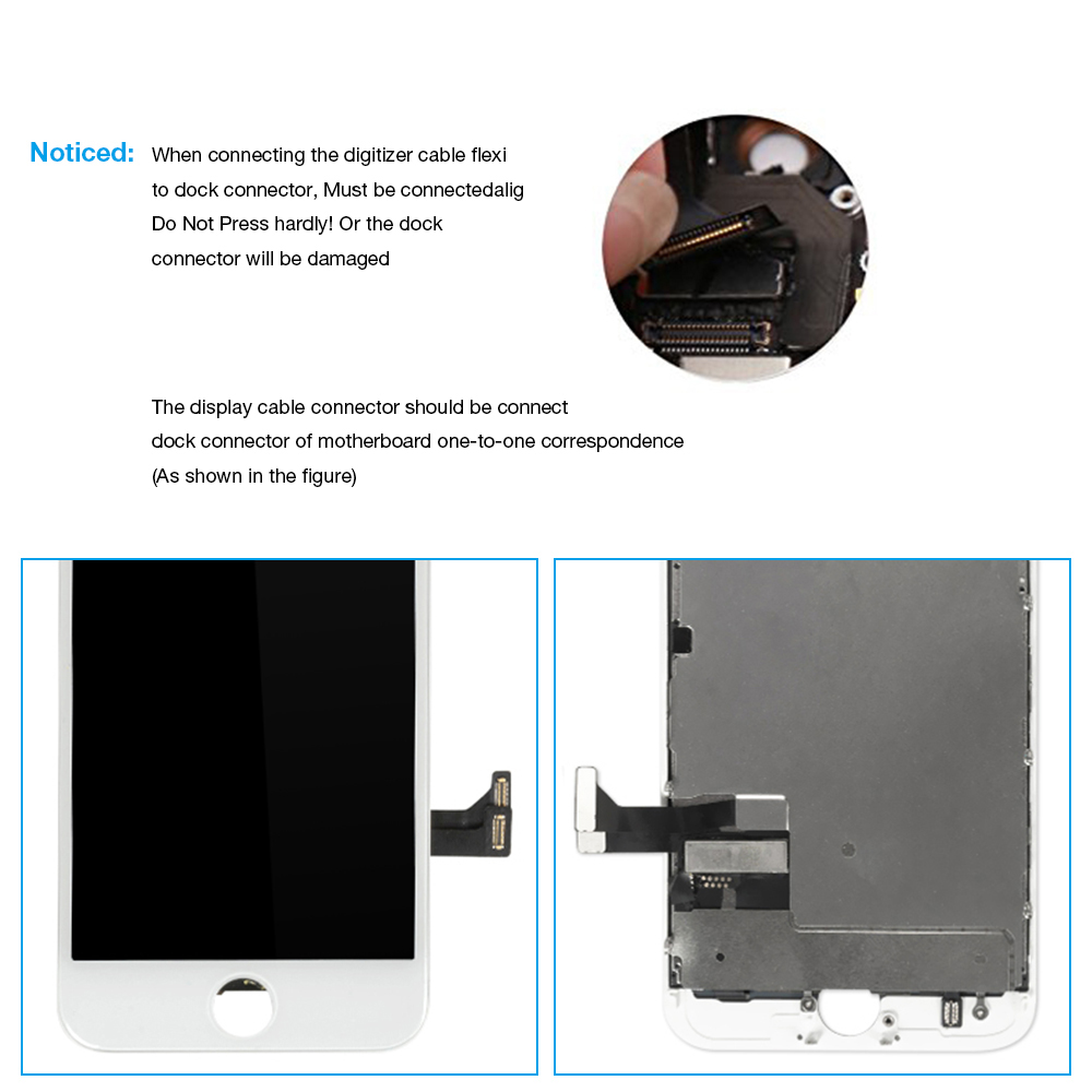1Pcs OEM LCD For iPhone 7 7 Plus Display Full Set Digitizer Assembly 3D Touch Screen Replacement +Front Camera+Earpiece Speaker