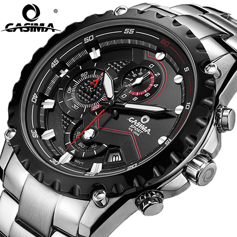 Men 2017 Sports Clock Fashion Luxury Brand Military Sport Wrist Quartz Watch Mens Watches Multifunctional Light Waterproof Reloj