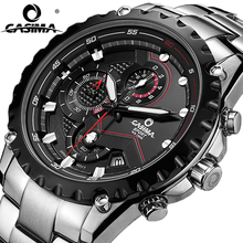 Men 2017 Sports Clock Fashion Luxury Brand Military Sport Wrist Quartz Watch Mens Watches Multifunctional Light Waterproof Reloj