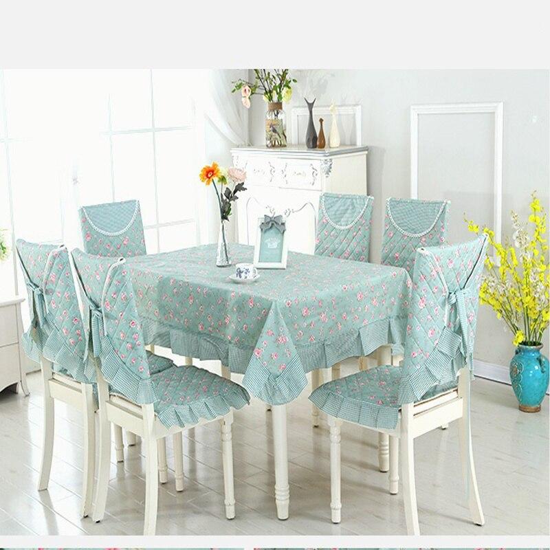 Pastoral style Table Cloth Set Hotel Home Decorative Tablecloth 9 pcs set Table Cover 4pcs Chair