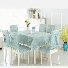 Pastoralen stil Tischdecke Gesetzt Hotel & Home Dekorative Tischdecke 9 teile/satz Tabelle Abdeckung + 4 stücke Stuhl Kissen + 4 stücke Stuhlhussen