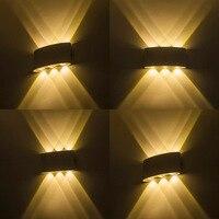Black White housing LED Outdoor lamp Waterproof IP65 LED Wall light porch light Up and Down lamp 6W 10W Modern 110V 220V 240V