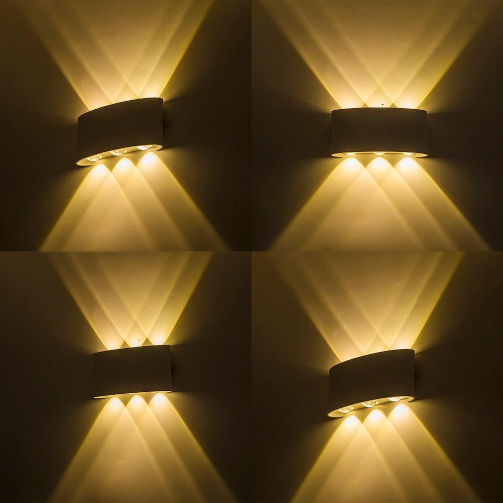 schwarz wei geh use led outdoor lampe wasserdichte ip65 f hrte wand licht veranda licht up und. Black Bedroom Furniture Sets. Home Design Ideas