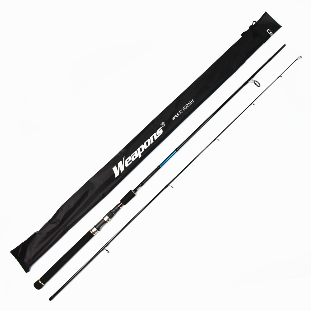 Crony Weapons WASS2-802MH Sea Bass 2pieces Spinning Rods 8'0