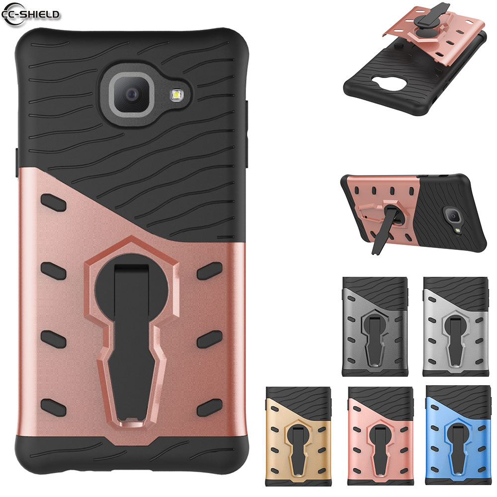 Fitted Case For Samsung Galaxy J7 Max 2017 Duos LTE Case Phone Cover On Max SM-G615F/DD SM-G615F/DS Armor Black Silicon Bumper