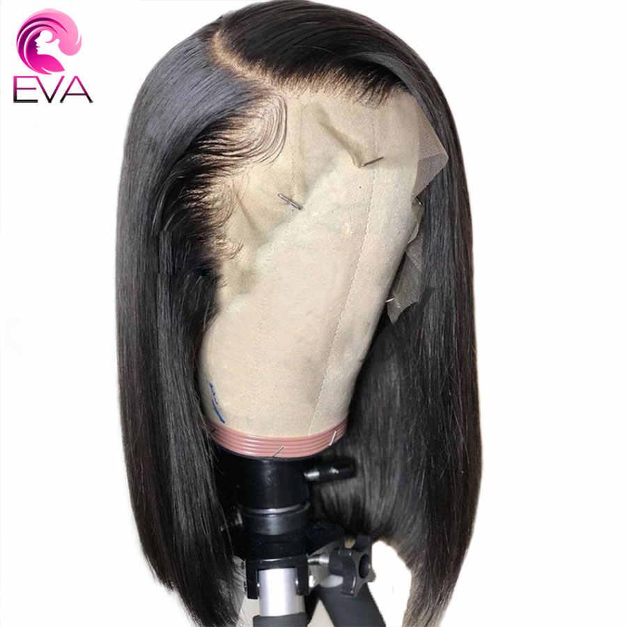 Eva de la onda de agua del pelo pelucas llenas del cabello humano del cordón con el pelo del bebé Pre arrancó cabello brasileño Remy pelucas de cabello con nudos blanqueados