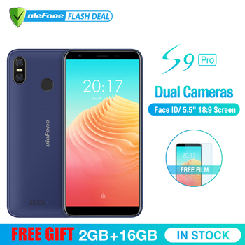 Ulefone S9 Pro 5.5 inch HD+ Mobile Phone Android 8.1 MTK6739 Quad Core 2GB RAM 16GB ROM 13MP+5MP Dual Rear Cameras 4G Cellphone